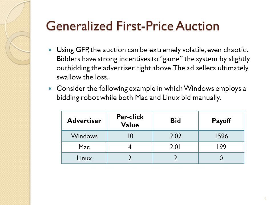 Generalized First-Price Auction