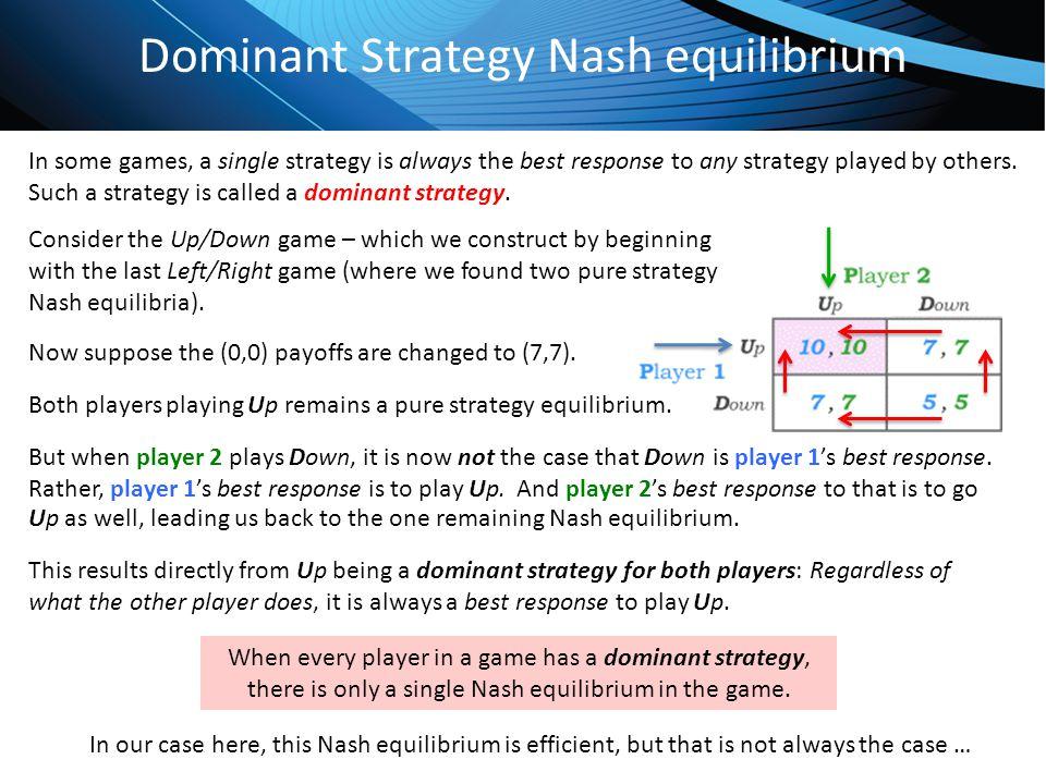 Dominant Strategy Nash equilibrium