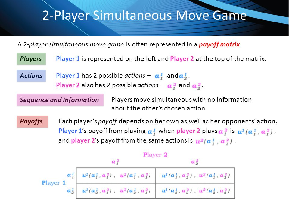 2-Player Simultaneous Move Game