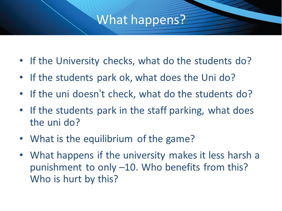 What happens If the University checks, what do the students do