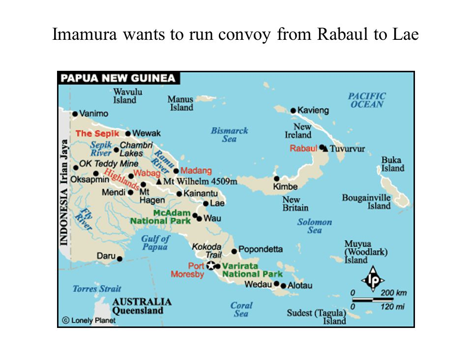 Imamura wants to run convoy from Rabaul to Lae