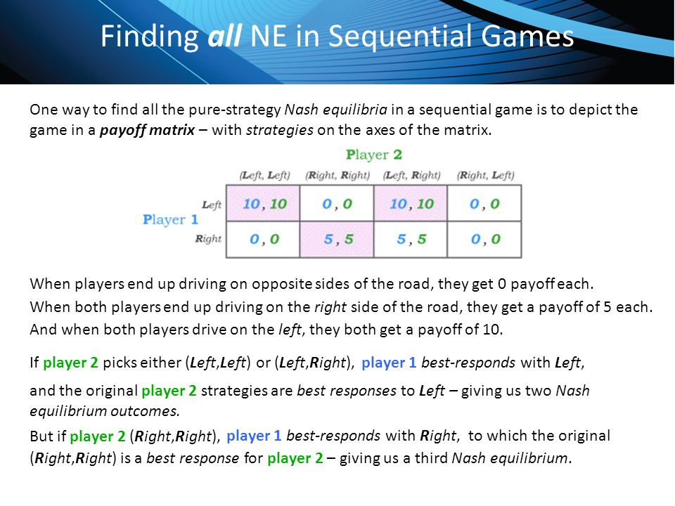 Finding all NE in Sequential Games