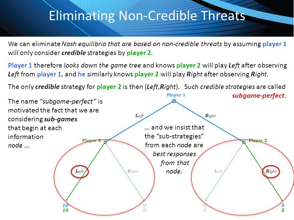 Eliminating Non-Credible Threats