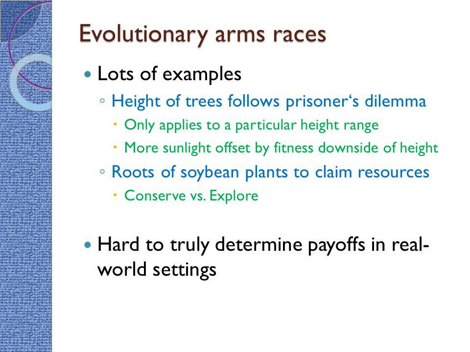 Evolutionary arms races