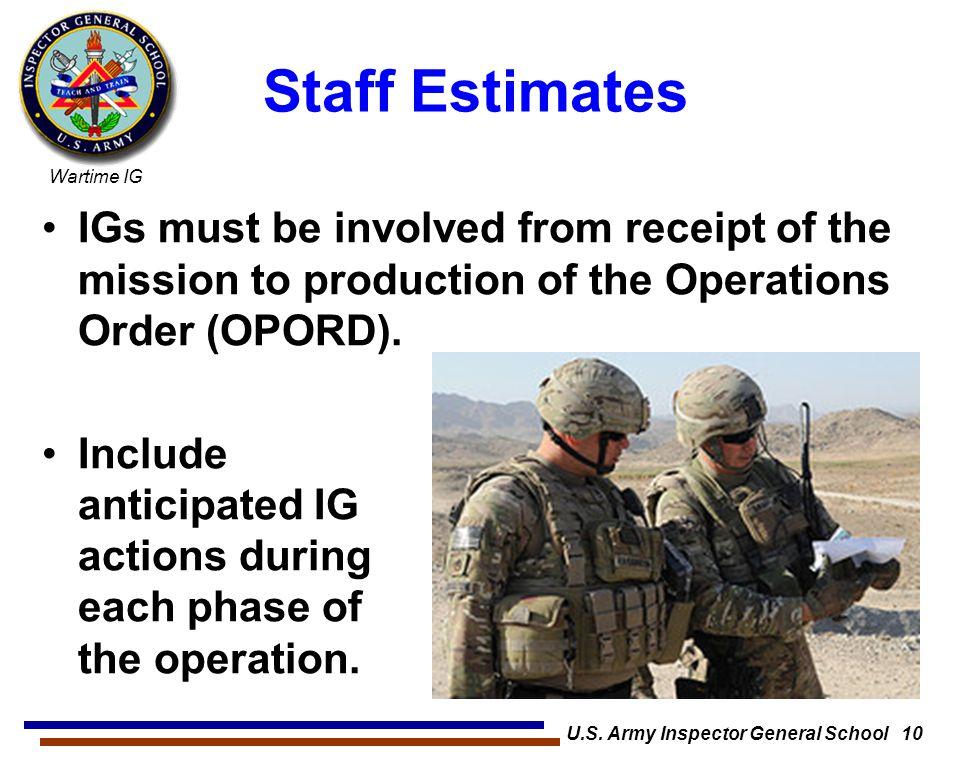 U.S. Army Inspector General School 10