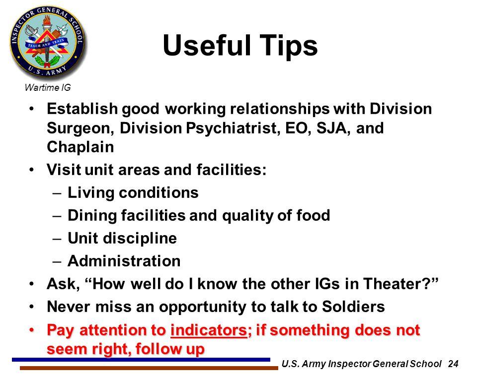 U.S. Army Inspector General School 24