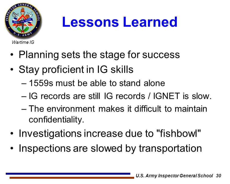 U.S. Army Inspector General School 30