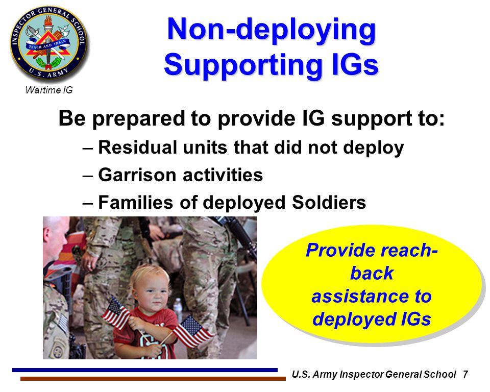 Non-deploying Supporting IGs