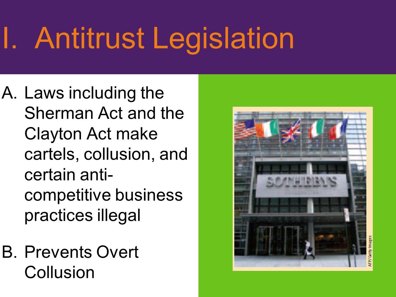 I. Antitrust Legislation