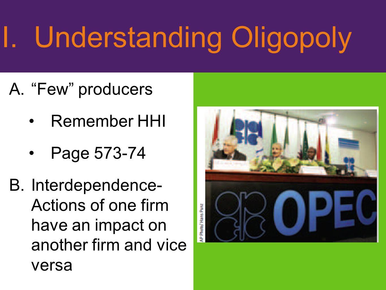 I. Understanding Oligopoly