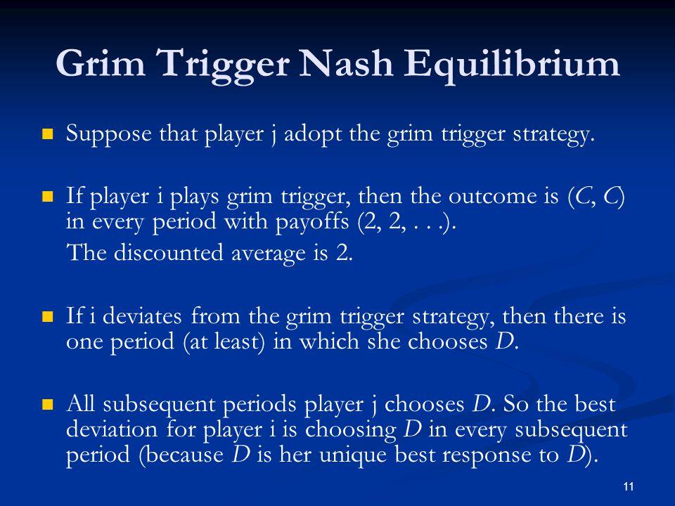 Grim Trigger Nash Equilibrium
