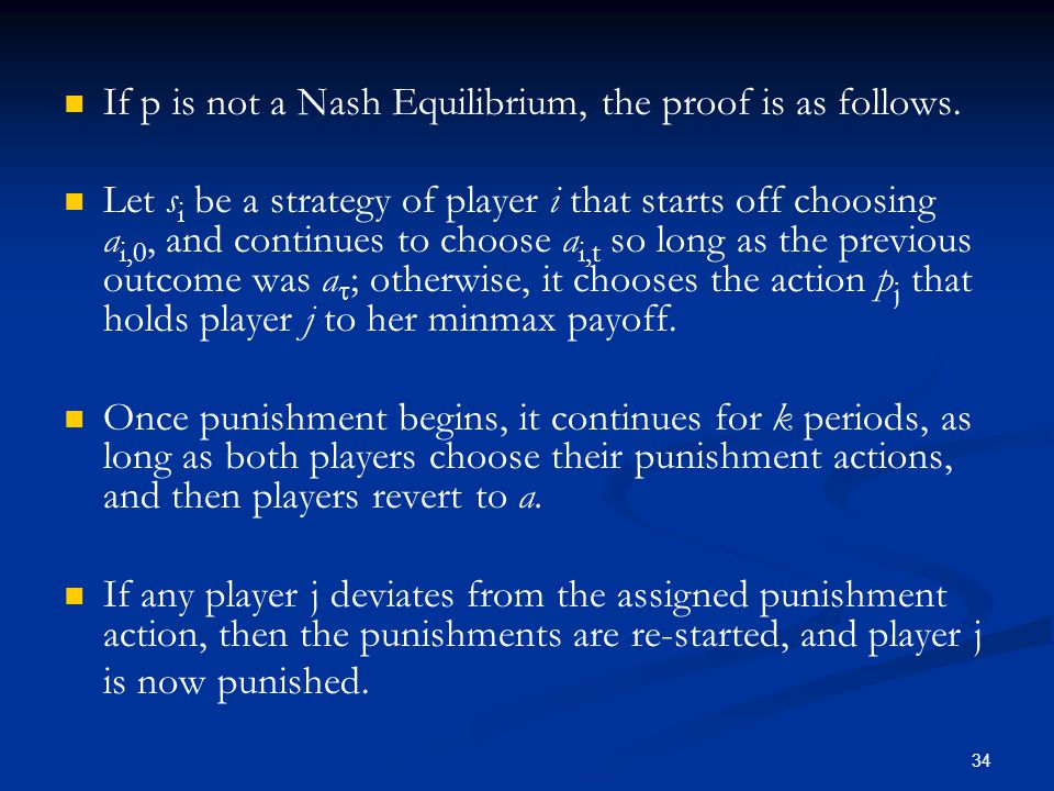 If p is not a Nash Equilibrium, the proof is as follows.