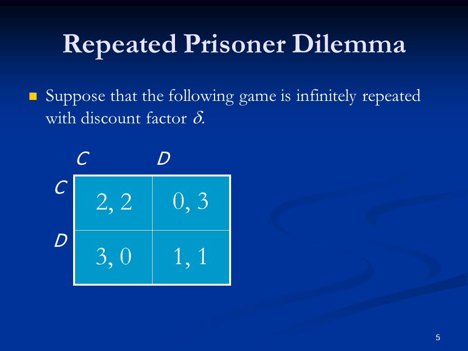 Repeated Prisoner Dilemma