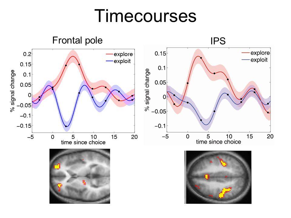 Timecourses Frontal pole IPS