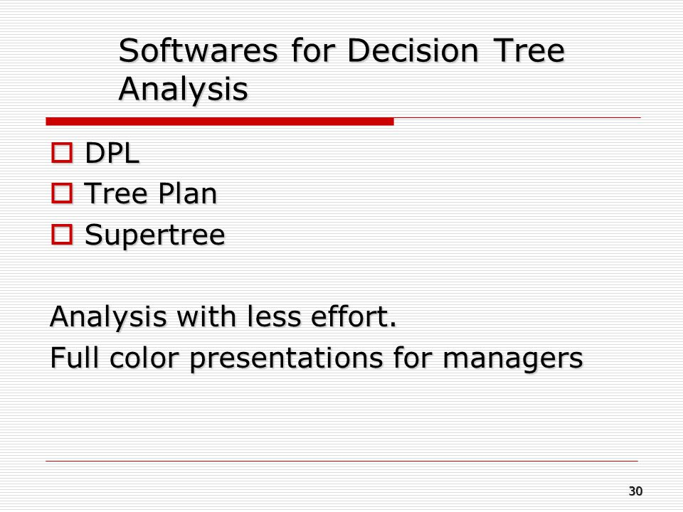 Softwares for Decision Tree Analysis