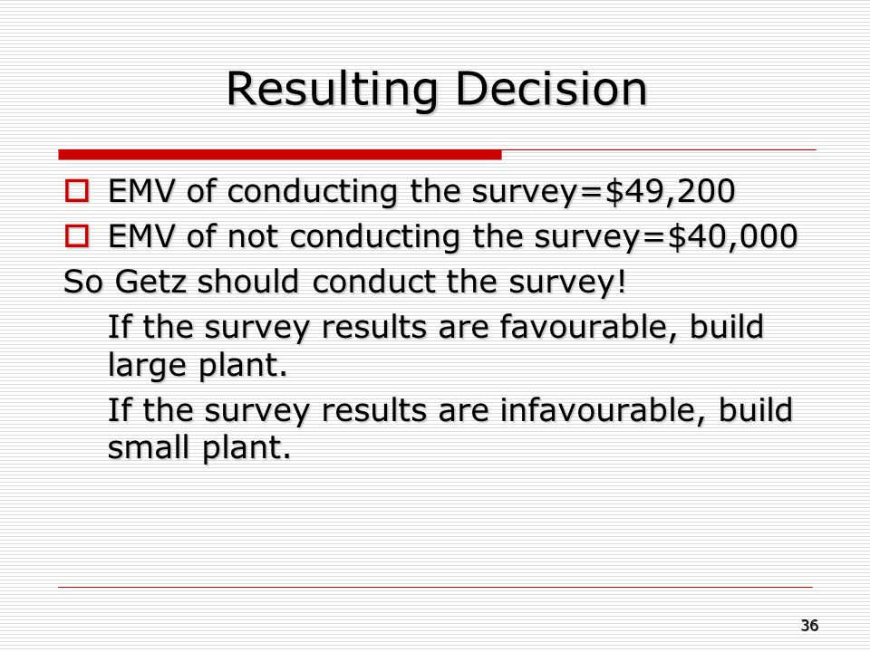 Resulting Decision EMV of conducting the survey=$49,200