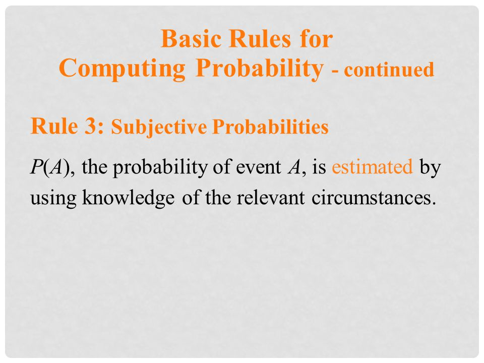 Computing Probability - continued