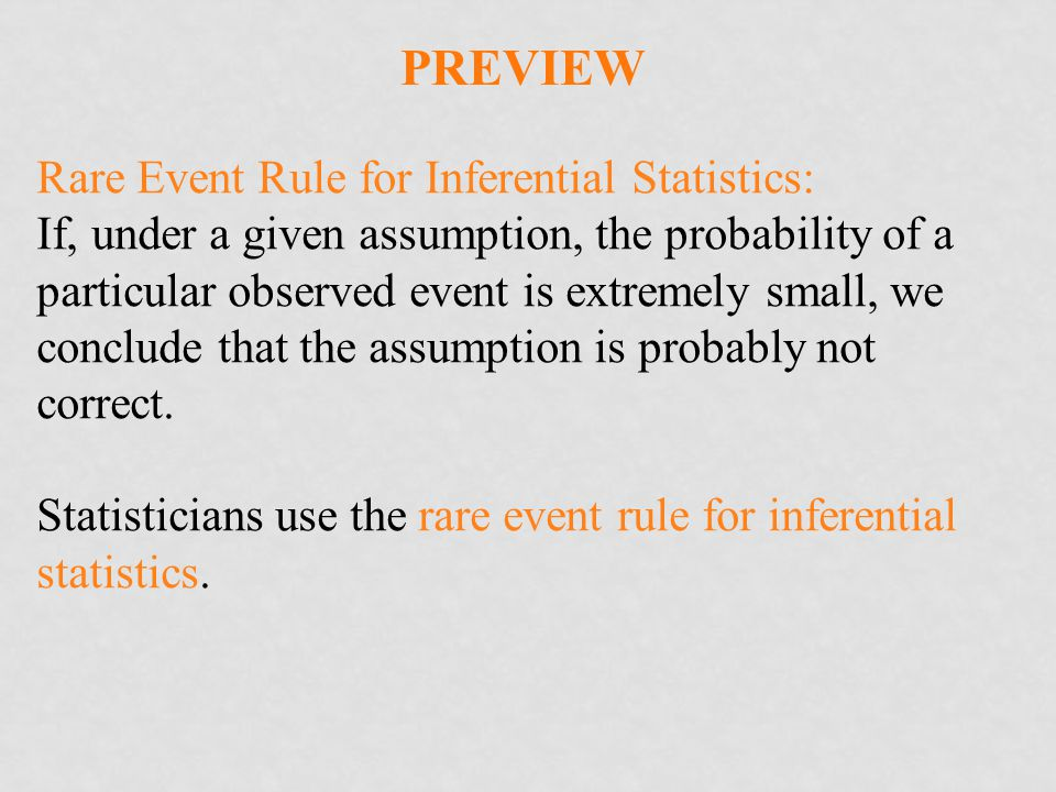 Preview Rare Event Rule for Inferential Statistics: