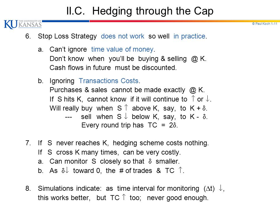 II.C. Hedging through the Cap