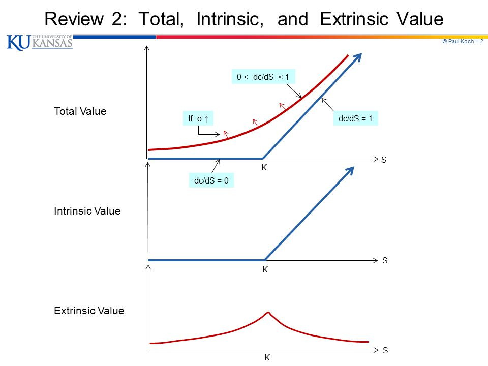 Review 2: Total, Intrinsic, and Extrinsic Value