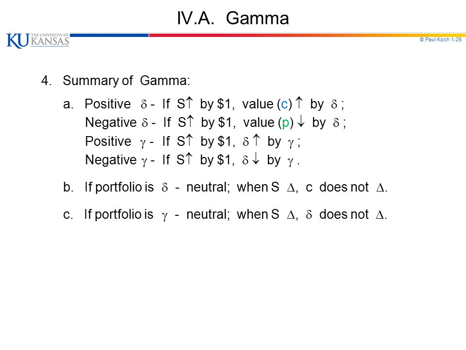 IV.A. Gamma 4. Summary of Gamma: