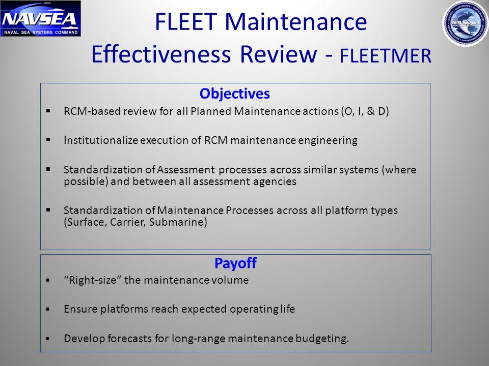 FLEET Maintenance Effectiveness Review - FLEETMER