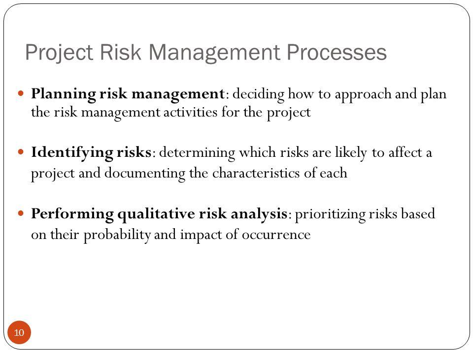 Project Risk Management Processes