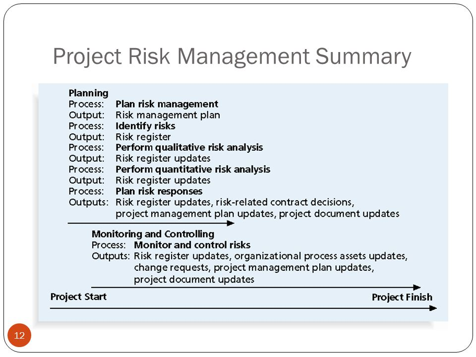 Project Risk Management Summary