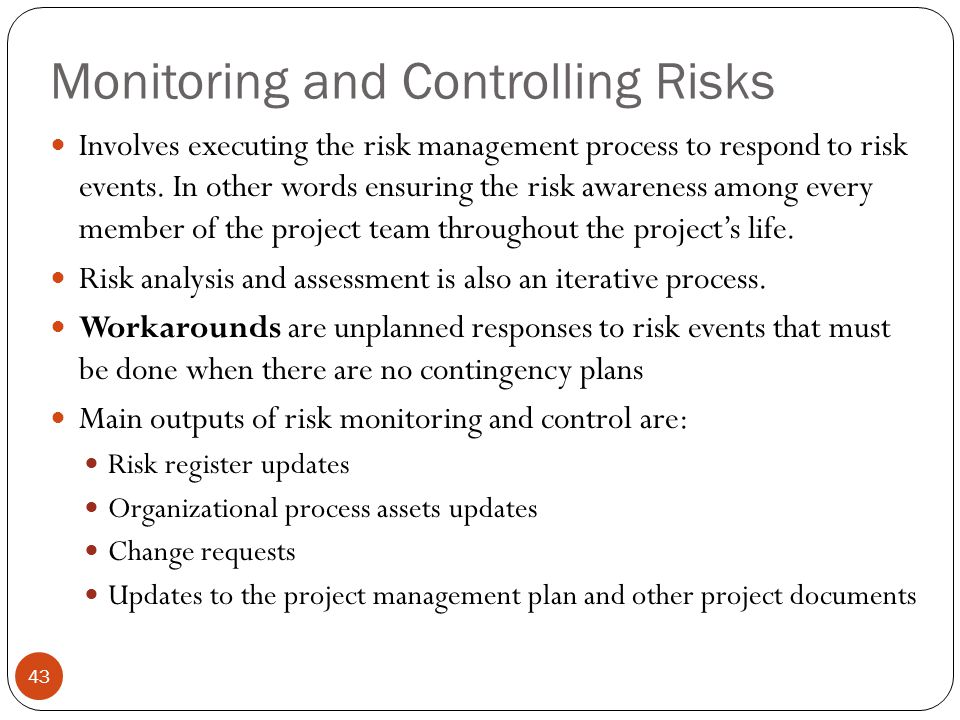 Monitoring and Controlling Risks