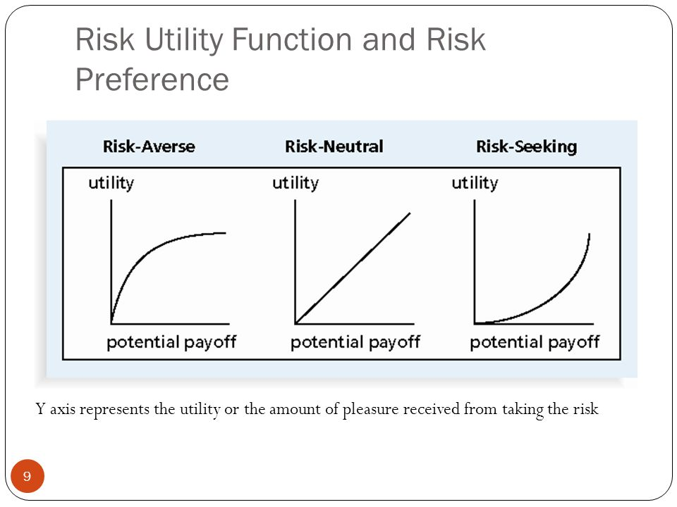 Risk Utility Function and Risk Preference