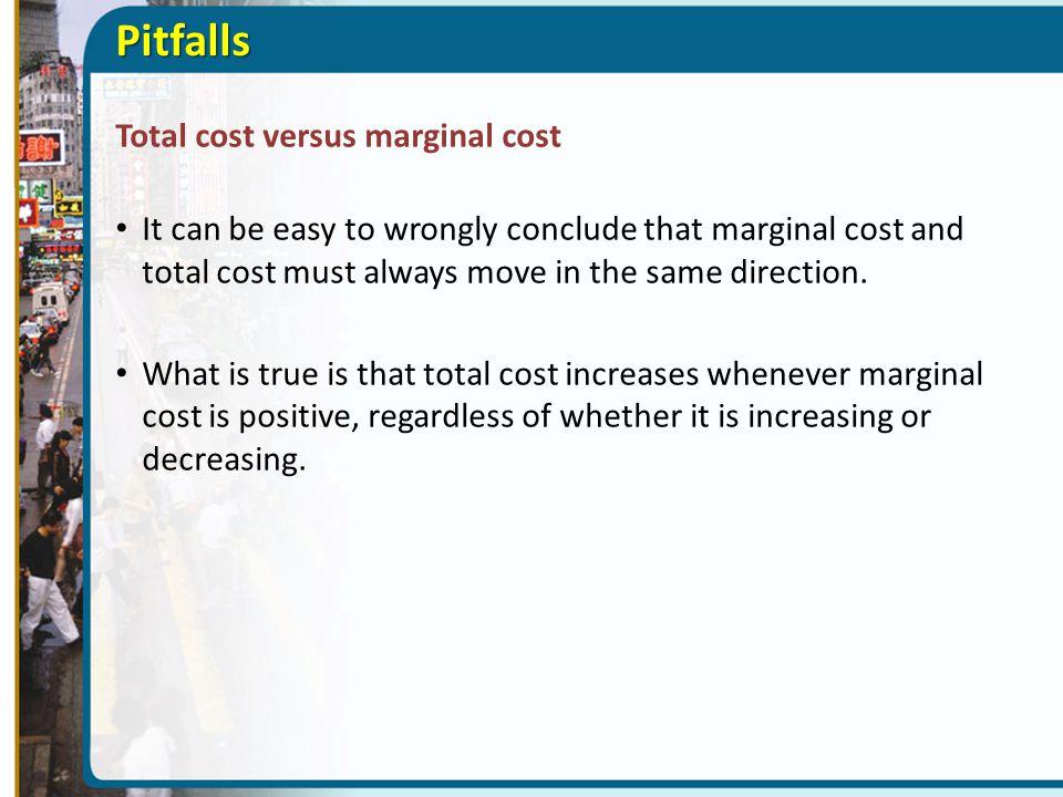 Pitfalls Total cost versus marginal cost