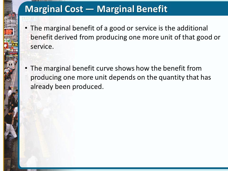 Marginal Cost — Marginal Benefit