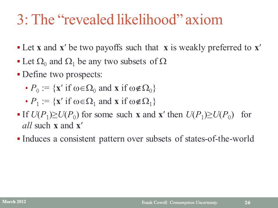 3: The revealed likelihood axiom