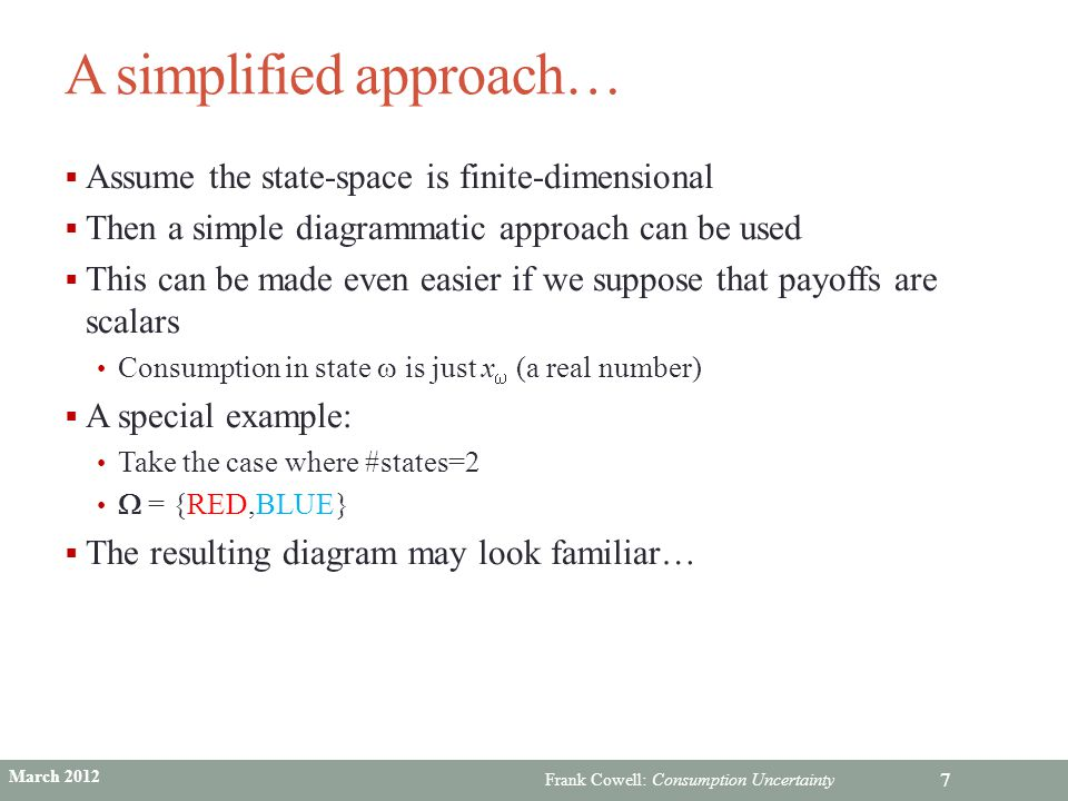 A simplified approach…