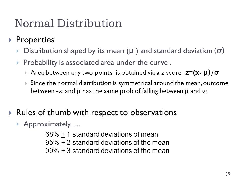Normal Distribution Properties