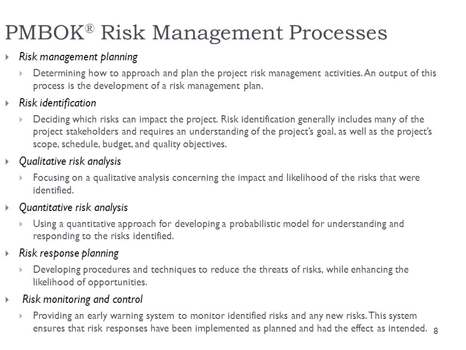 PMBOK® Risk Management Processes