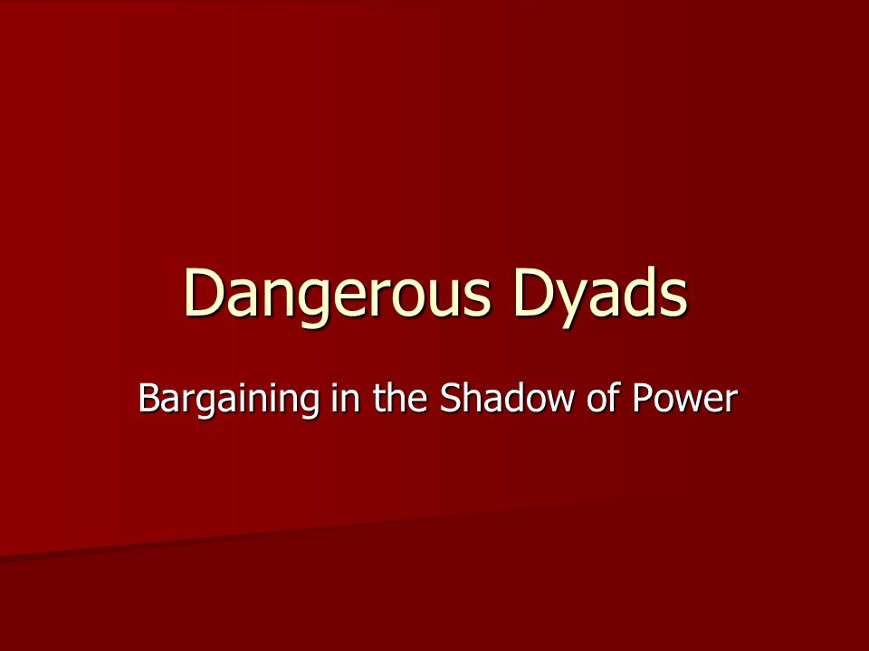 Bargaining in the Shadow of Power