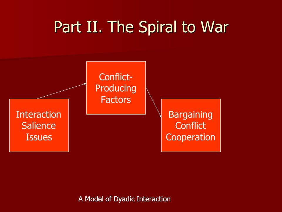 Part II. The Spiral to War