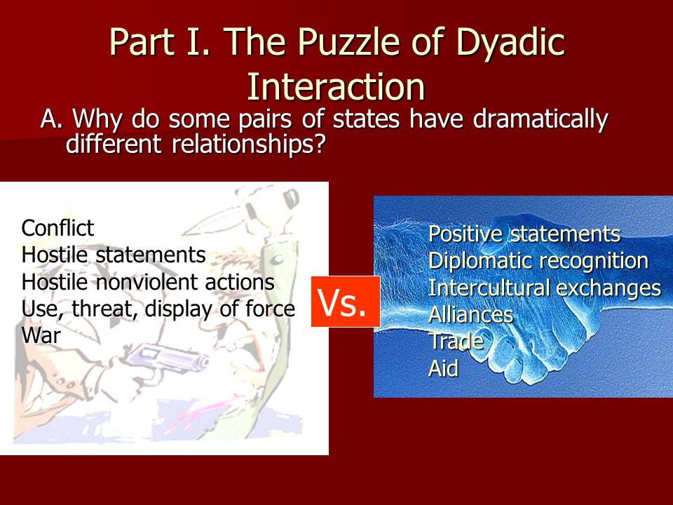 Part I. The Puzzle of Dyadic Interaction