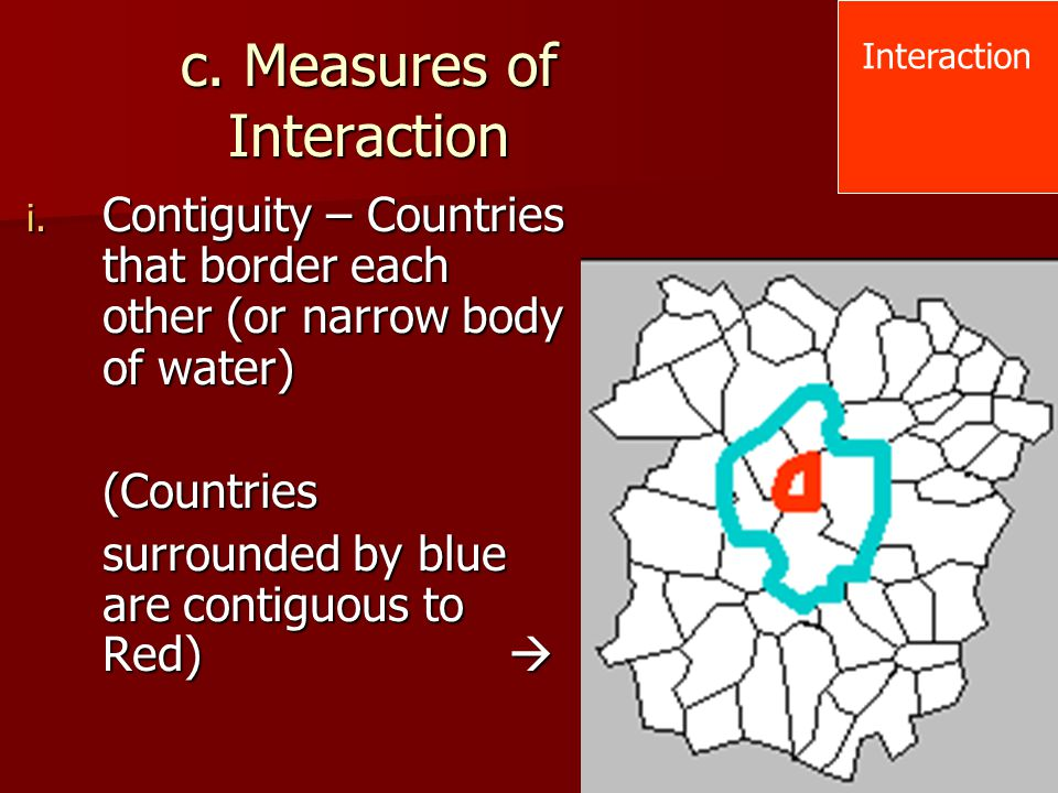 c. Measures of Interaction