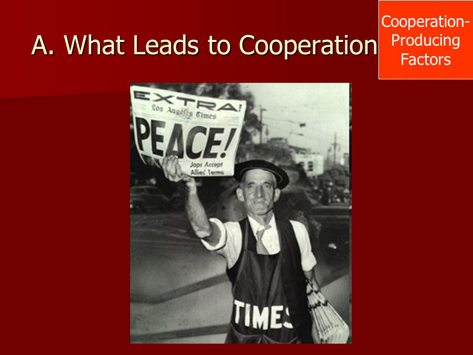 A. What Leads to Cooperation