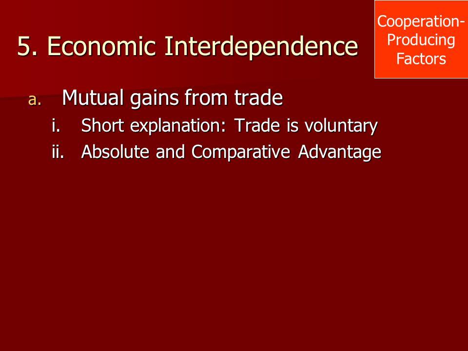 5. Economic Interdependence