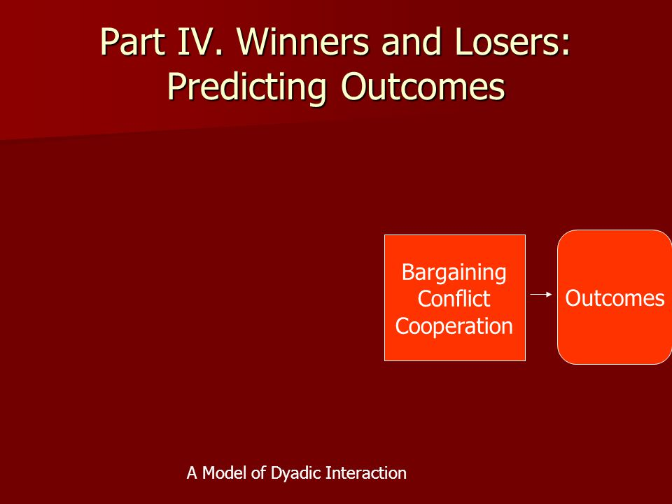 Part IV. Winners and Losers: Predicting Outcomes
