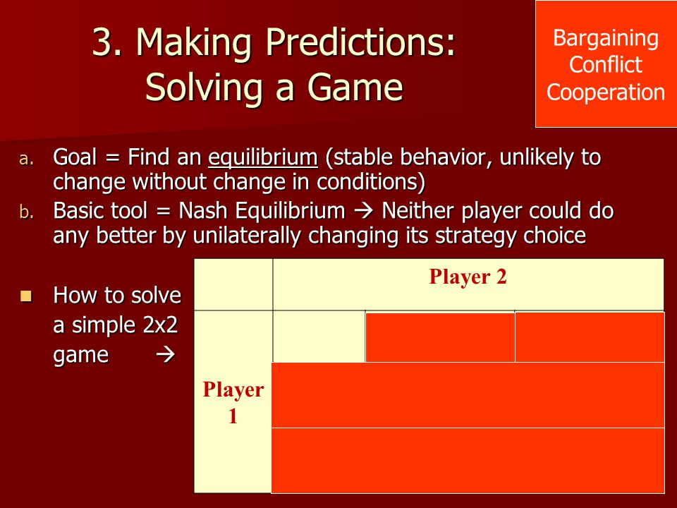 3. Making Predictions: Solving a Game