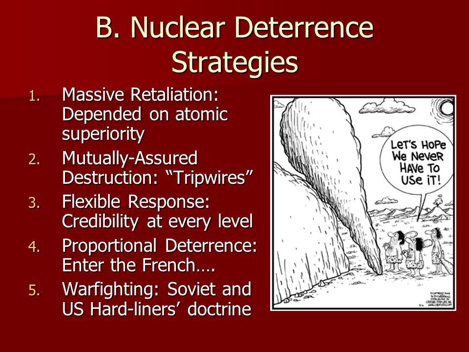 B. Nuclear Deterrence Strategies