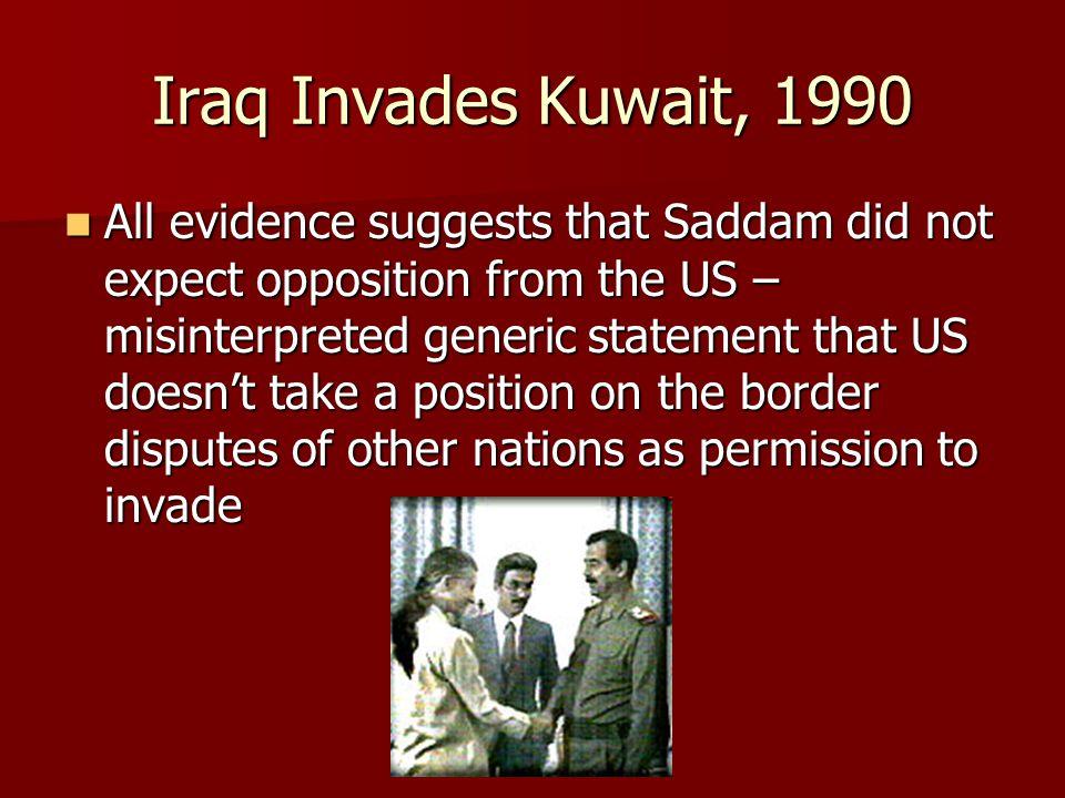 Iraq Invades Kuwait, 1990
