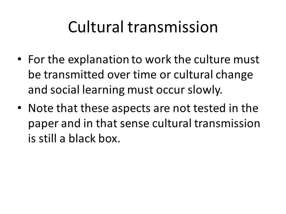Cultural transmission