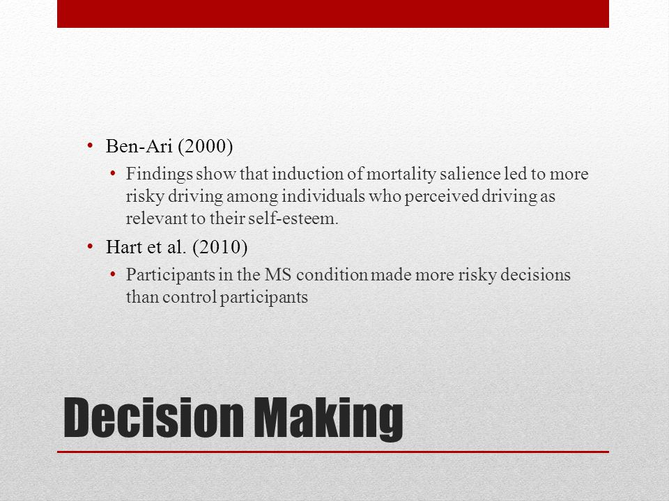 Decision Making Ben-Ari (2000) Hart et al. (2010)