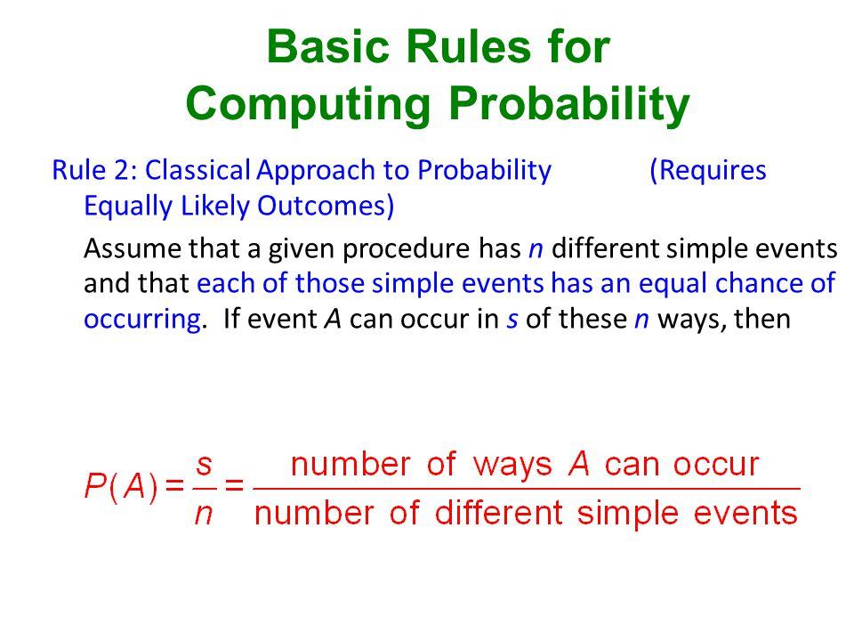 Computing Probability