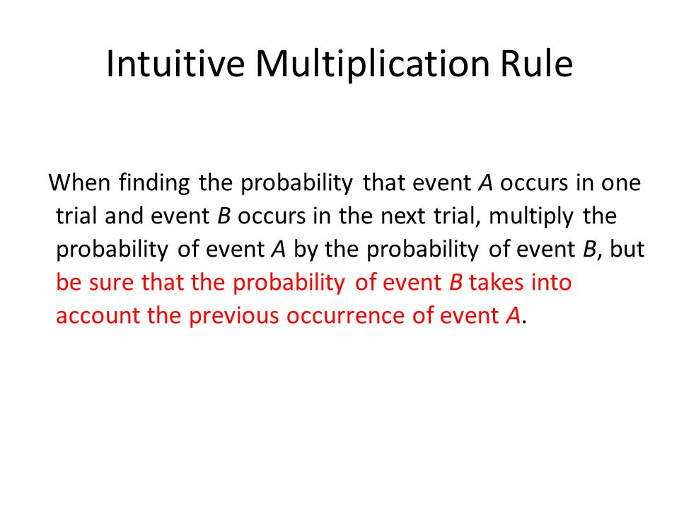 Intuitive Multiplication Rule